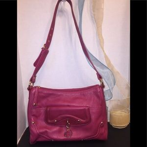 Stone Mountain's Raspberry Shoulder Bag